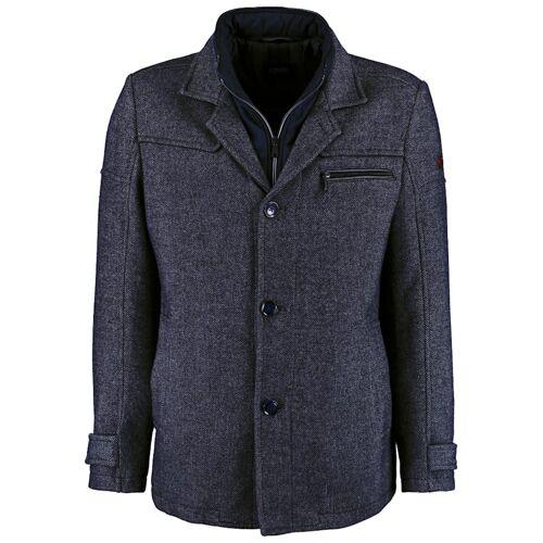 DNR Jackets Herren Jacke mit Doppelkragen und praktischen Taschen DNR Jackets navy
