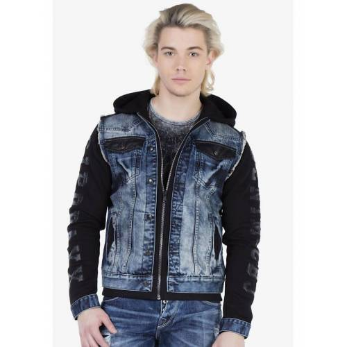 Cipo & Baxx Sweatjacke im coolen Jeans-Look Cipo & Baxx Blue