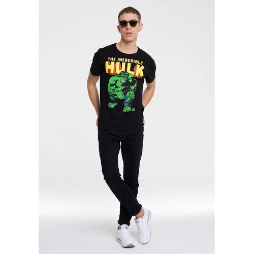 Logoshirt T-Shirt The Incredible Hulk mit tollem Hulk-Print Logoshirt schwarz