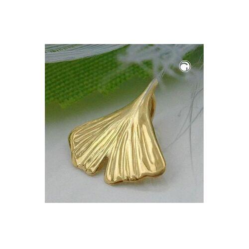 Gallay Schmuckgroßhandel Anhänger 12mm Ginkgoblatt glänzend 9Kt GOLD Gallay Schmuckgroßhandel gold