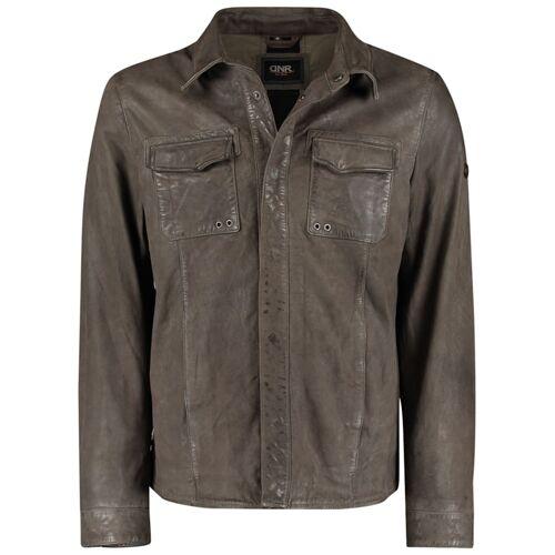 DNR Jackets Lederjacke mit Brusttaschen und Umlegekragen DNR Jackets Black
