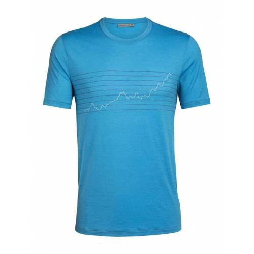 Icebreaker Tshirt Mens Tech Lite SS Crewe Glob Icebreaker Blau