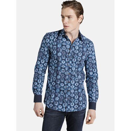 Shirtmaster Hemd baticflower Shirtmaster dunkelblau