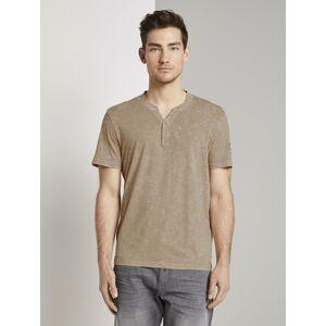 Tom Tailor Henley-T-Shirt im Washed-Look Tom Tailor Silver Ecru