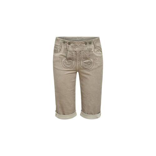 MarJo Trachten Jeans-Lederhose MarJo Trachten Grau