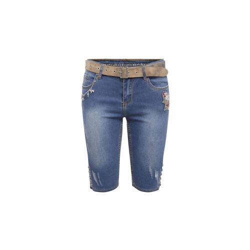 MarJo Trachten Jeansshort MarJo Trachten Blau
