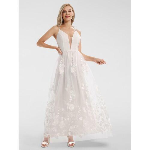 Apart Hochzeitskleid mit 3-D-Blüten APART creme
