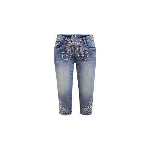 MarJo Trachten Jeans-Lederhose MarJo Trachten Blau