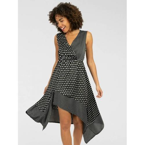 Apart Asymmetrisches Kleid mit asymmetrischem Saum APART schwarz
