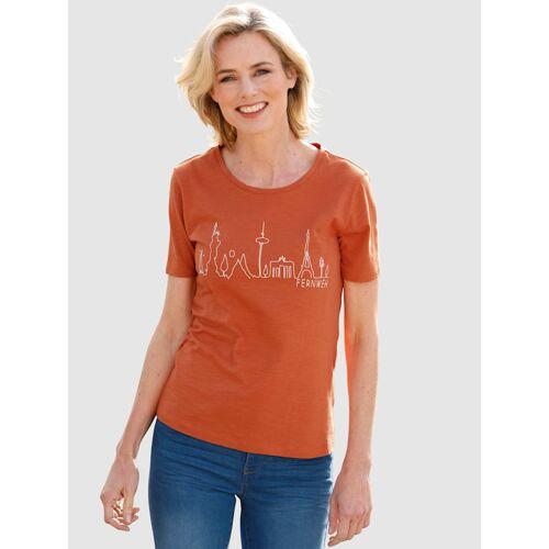 Dress In Shirt Dress In Kupferfarben