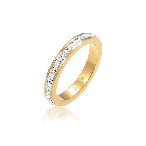 Elli Premium Ring Geo Trend Kristalle 925 Sterling Silber Elli Premium Gold