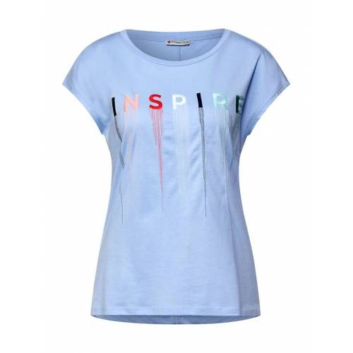 Street One T-Shirt mit Stickerei Street One sunny blue