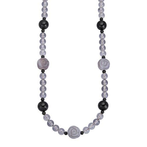 KLiNGEL Collier mit Bergkristallen KLiNGEL Grau