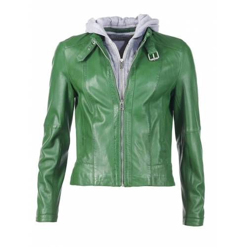 JCC Lederjacke in auffälliger Farbe JCC green