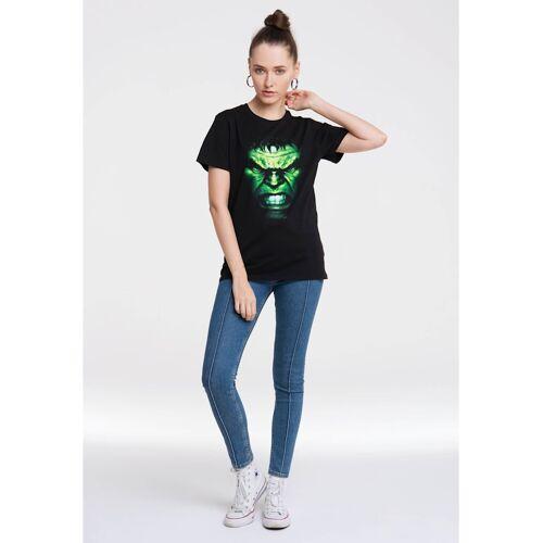 Logoshirt T-Shirt mit tollem Hulk-Print Logoshirt schwarz