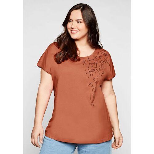Sheego Shirt Sheego kupferfarben