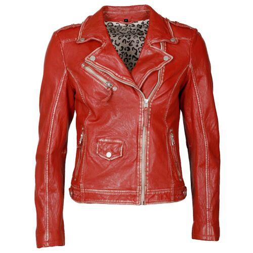 JCC Bikerjacke im Used-Look JCC red