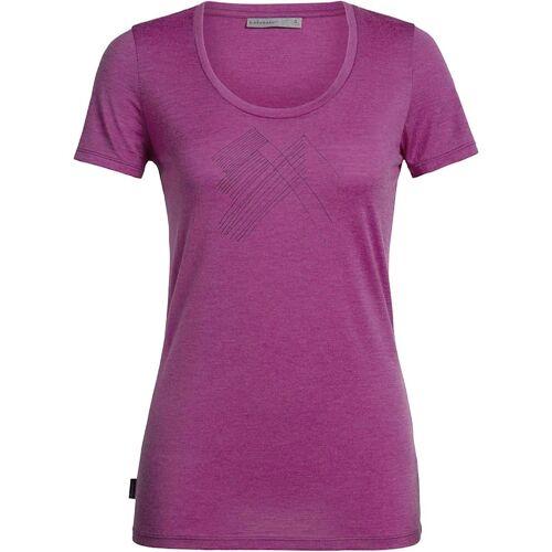 Icebreaker T-Shirt Tech Lite SS Scoop Snap Head Icebreaker Pink