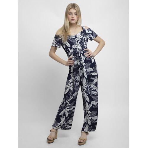 Apart Jumpsuit mit weißem Blüten-Print APART blau-weiß