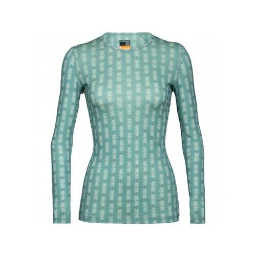 Icebreaker Shirt Wmns 200 Oasis LS Crewe Snow Icebreaker Grün