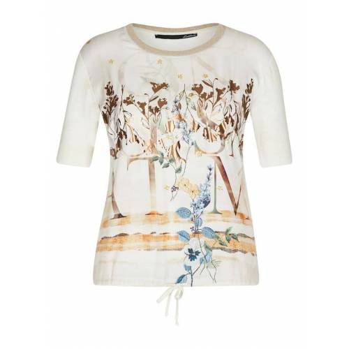 Le Comte Shirt mit Muster-Mix und Lettering Le Comte SAND
