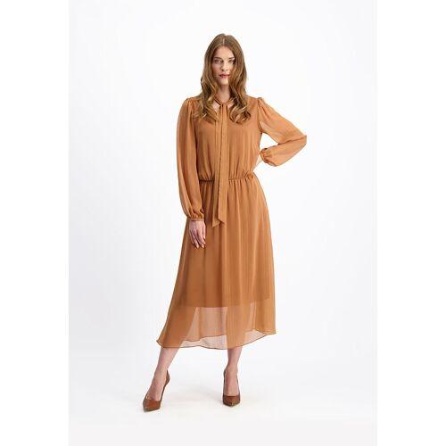 LAVARD Kleid mit Goldfaden verziert LAVARD zimtfarbe