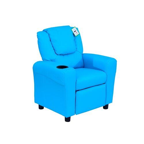 HOMCOM Kindersessel mit Liegefunktion HOMCOM blau