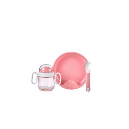 Rosti Mepal Geschirr Set Set Babygeschirr Mepal Mio 3-teilig Rosti Mepal Deep Pink