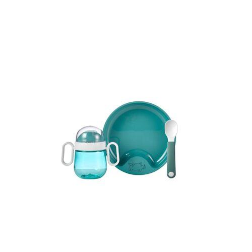 Rosti Mepal Geschirr Set Set Babygeschirr Mepal Mio 3-teilig Rosti Mepal Deep  Turquoise