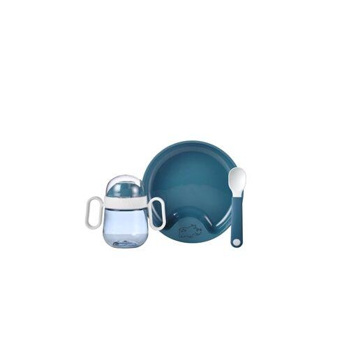 Rosti Mepal Geschirr Set Set Babygeschirr Mepal Mio 3-teilig Rosti Mepal Deep Blue