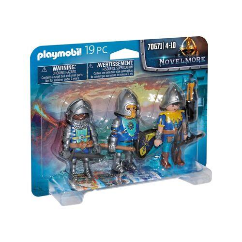 PLAYMOBIL Konstruktionsspielzeug 3er Set Novelmore Ritter PLAYMOBIL bunt/multi