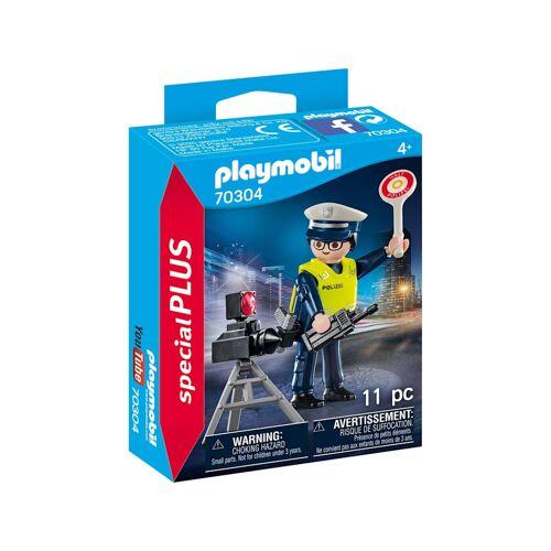 PLAYMOBIL Konstruktionsspielzeug Polizist mit Radarfalle PLAYMOBIL bunt/multi