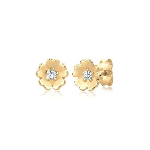 Elli Ohrringe Blume Garten Kristalle 925 Silber Elli Gold