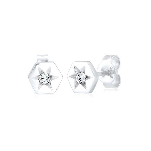 Elli Ohrringe Stern Hexagon Kristalle Sterling Silber Elli Silber
