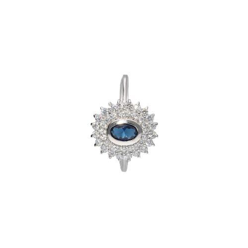 Smart Jewel Ring mit Zirkonia und dunkelblauem Kristallstein, Silber 925 Smart Jewel Blau