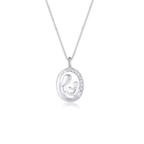 Elli Halskette Mutter Kind Figur Kristalle 925 Silber Elli Silber