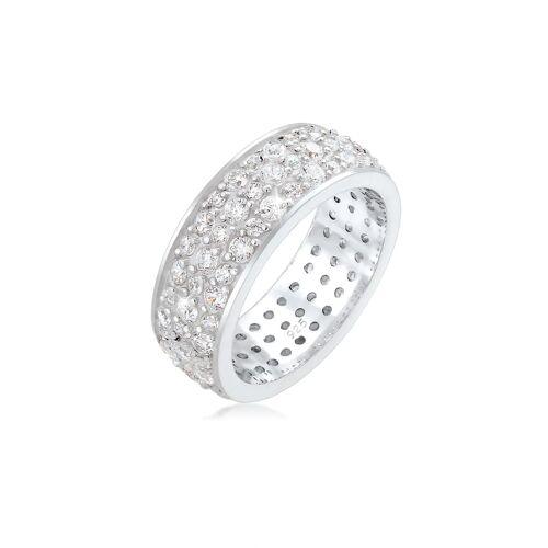 Elli Premium Ring Bandring Microsetting Zirkonia Kristall 925 Silber Elli Premium Gold