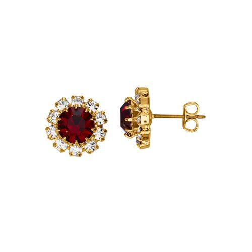 Golden Style Ohrstecker mit Kristallen Golden Style Rot