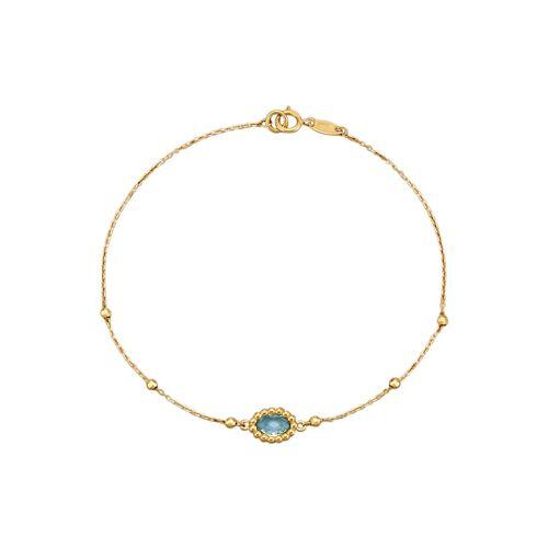 KLiNGEL Armband mit 1 Blautopas KLiNGEL Blau