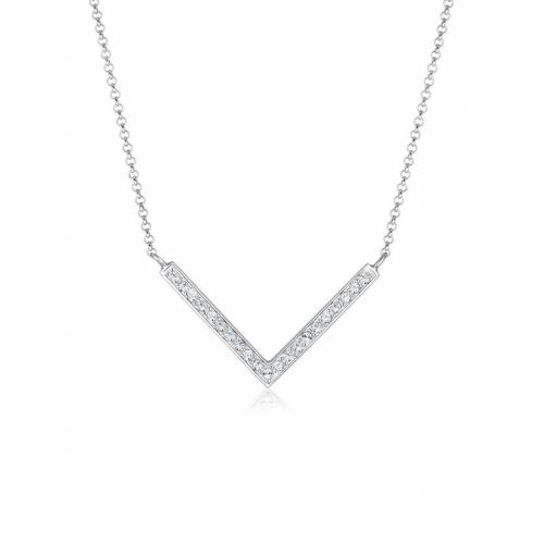 Elli Halskette V-Kette Kristalle 925 Silber Elli Weiß