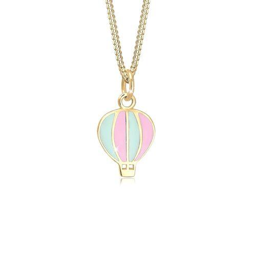Elli Halskette Kinder Heissluftballon Emaille Bunt 925 Silber Elli Gold