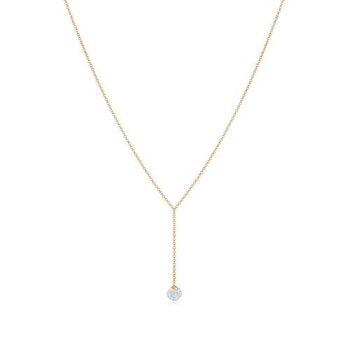 Elli Halskette Y-Kette Kugel Kristalle 925 Silber Elli Gold
