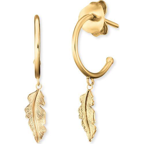 Engelsrufer Damen-Creolen 925er Silber Engelsrufer gold
