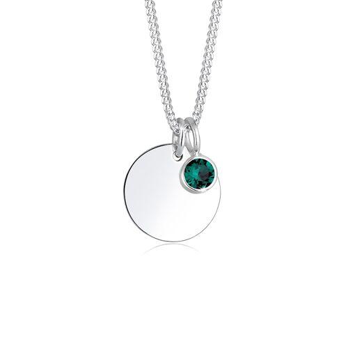Elli Halskette Geburtsstein April Kristalle 925 Silber Elli Grün