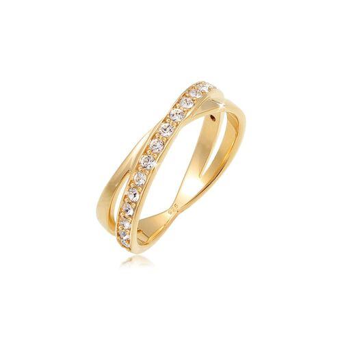 Elli Ring Edel Wickelring Kristalle 925 Silber Elli Gold