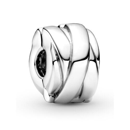 Pandora Clip-Charm -polierte Bänder- Pandora Silberfarben