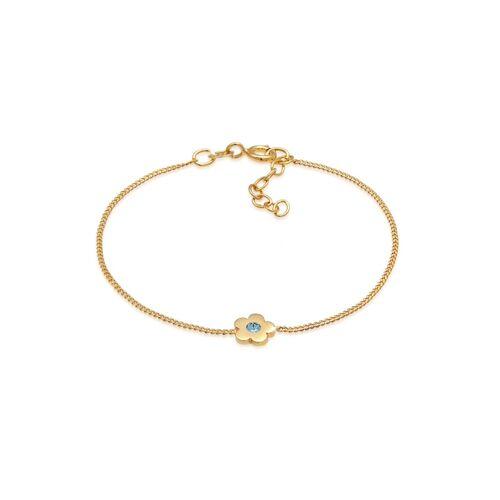 Elli Armband Kinder Blume Kristalle 925 Silber Elli Gold