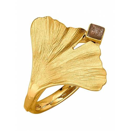 Diemer Atelier Ginkgo-Ring Diemer Atelier Gelbgoldfarben