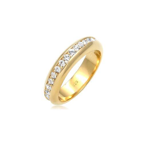 Elli Premium Ring Cocktail Bandring Kristalle 925 Silber Elli Premium Gold