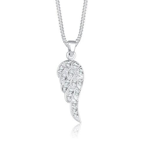 Elli Halskette Flügel Kristalle 925 Silber Elli Weiß